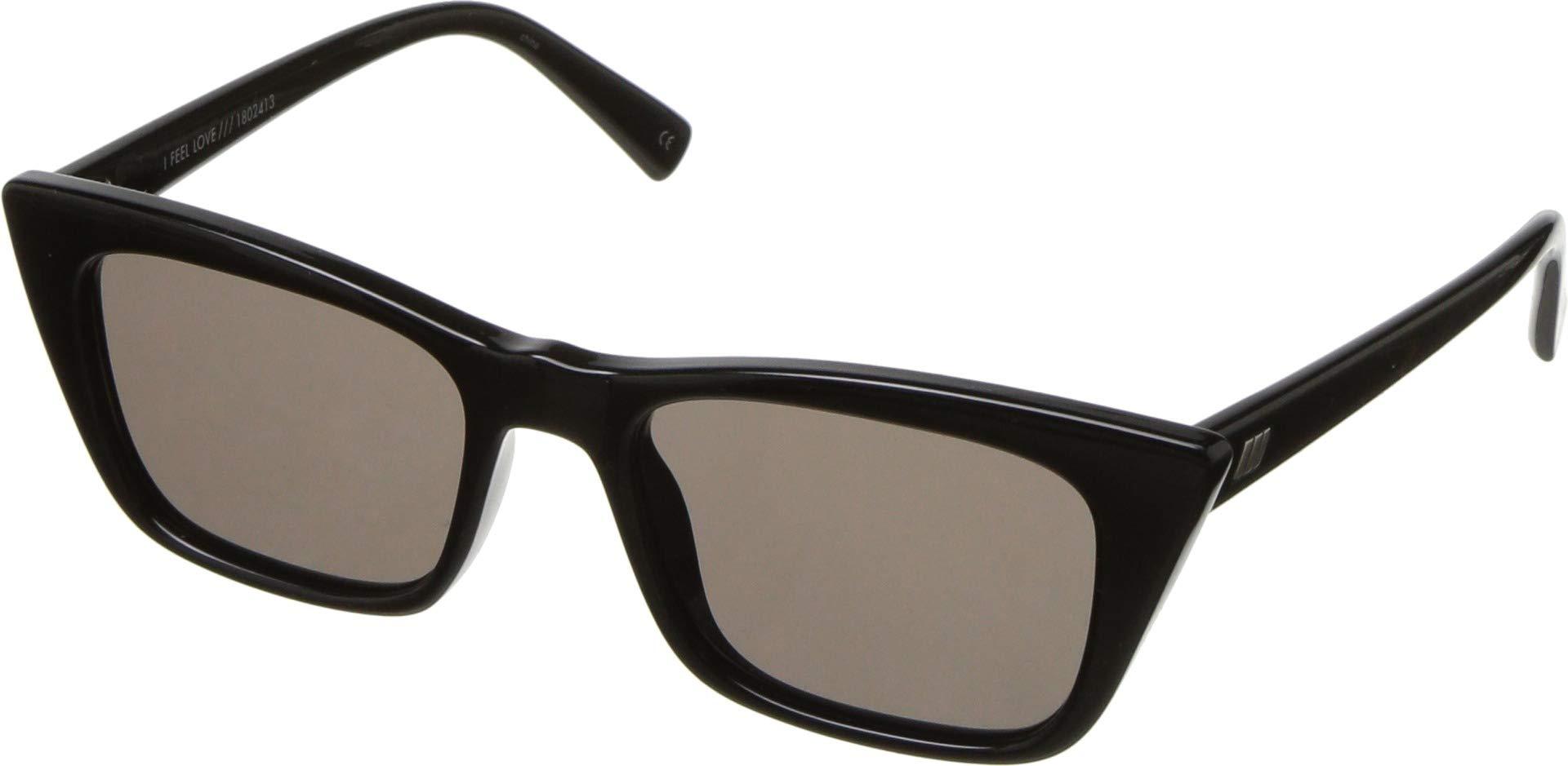 Le Specs Women's I Feel Love Sunglasses, Black/Black, One Size