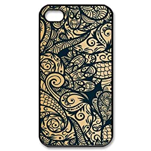 Gold Pattern ZLB566299 Brand New Case for Iphone 4,4S, Iphone 4,4S Case