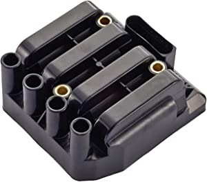 ENA Ignition Coil Pack Compatible with 1998-2011 Volkswagen - Jetta Golf Beetle - 2.0L L4 06A 905 097A 06A-905-097A UF484 C1393 5C1390 Black