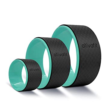 ATIVAFIT Sports Yoga Wheel Set, 3 Pack Yoga Roller Rad for Back Pain and Improving Your Yoga Poses, Perfect for Stretching, Improving Flexibility and ...
