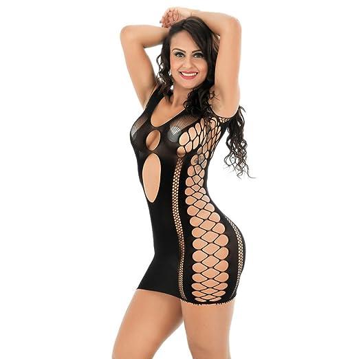 be00bce37 Amazon.com: Alixyz Women Sexy Fishnet Tight Mini Skirt Transparent Mesh  Fashion Underwear Dress (M, Black): Clothing