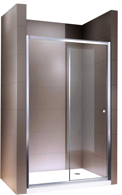 Mampara Nano EchtGlas ex505 – Puerta corredera transparente cristal – Altura 195 cm – ancho estampada, 1400mm: Amazon.es: Hogar