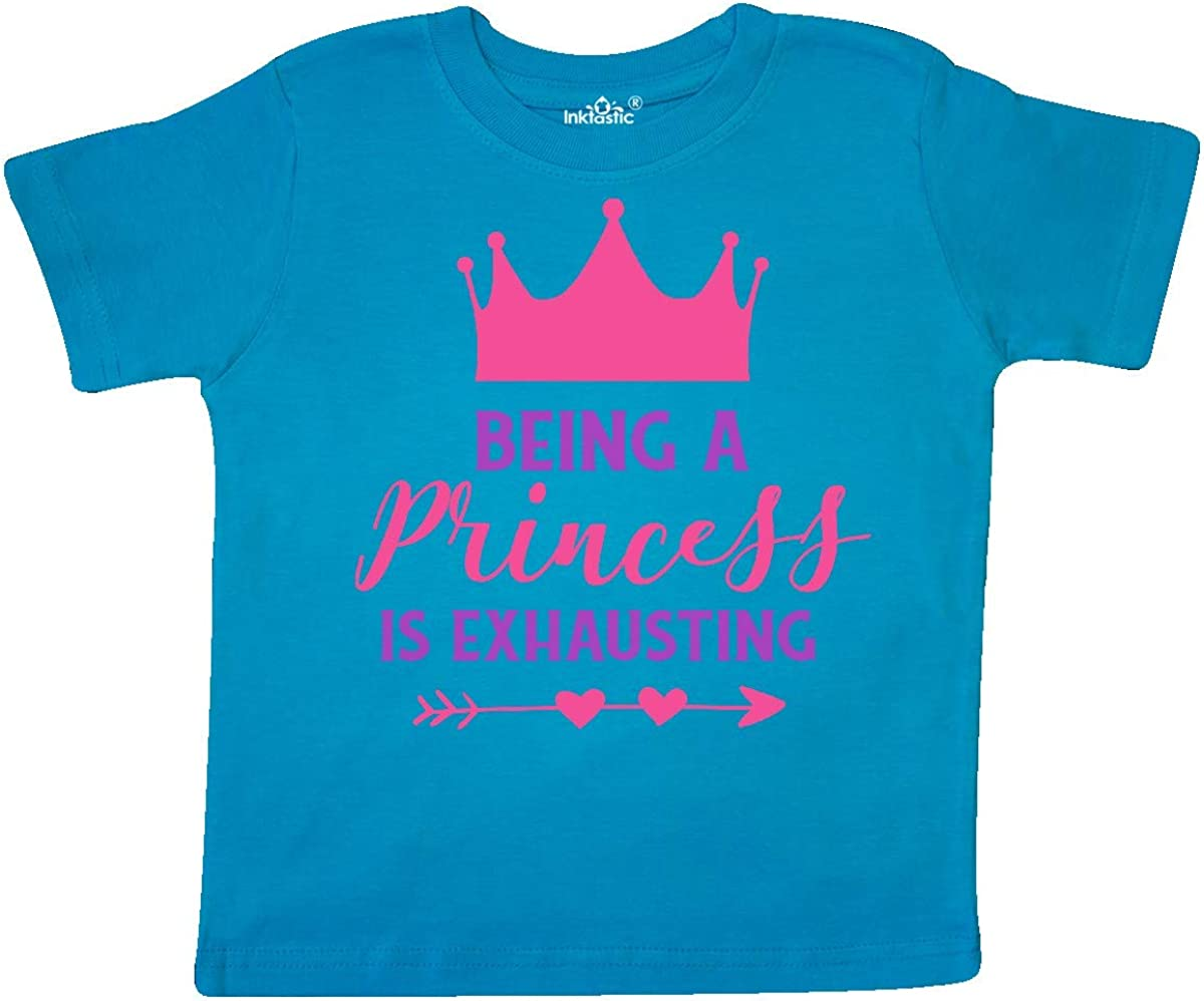 Arrow Toddler T-Shirt inktastic Being a Princess is Exhausting Crown