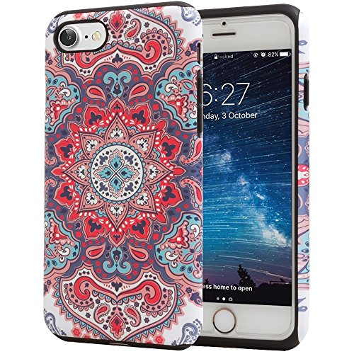 iPhone 6S Case, Paisley Indian Slim Dual Hard Case [Shockproof] [Dual Layer] [Drop Protection] Fashion Design Pattern for Apple iPhone 6S (2015) & iPhone 6 (2014) - Paisley Indian