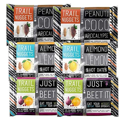 Trailnuggets Natural Energy Bar, Gluten Free, Sample Pack (6 Count)