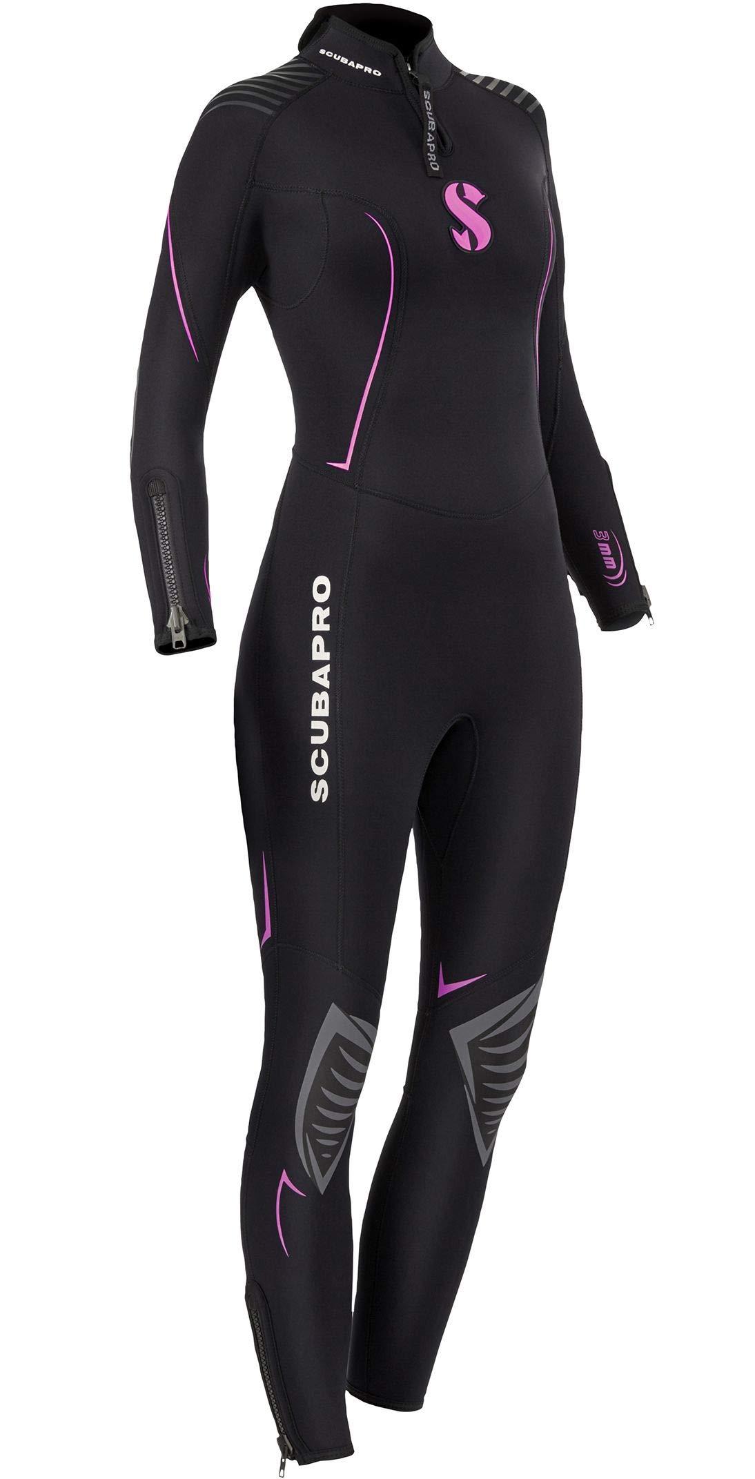 Scubapro Women's Definition Steamer 3mm Wetsuit, Medium - Black/Pink by SCUBAPRO