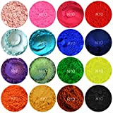 15 Piece Assorted Baggie Sampler Mineral Matte & Shimmer Mica Powder DIY 1/2 Gram Each Bag Myo For Soap Making, Cosmetic, Candle Making, Nail Art, Resin Jewelry, Acrylic and other Craft Projects