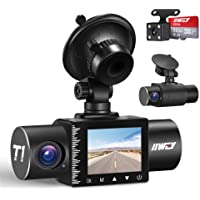 $79 » iiwey Dash Cam Front Rear and Inside 1080P Three Channels with IR Night Vision Car…