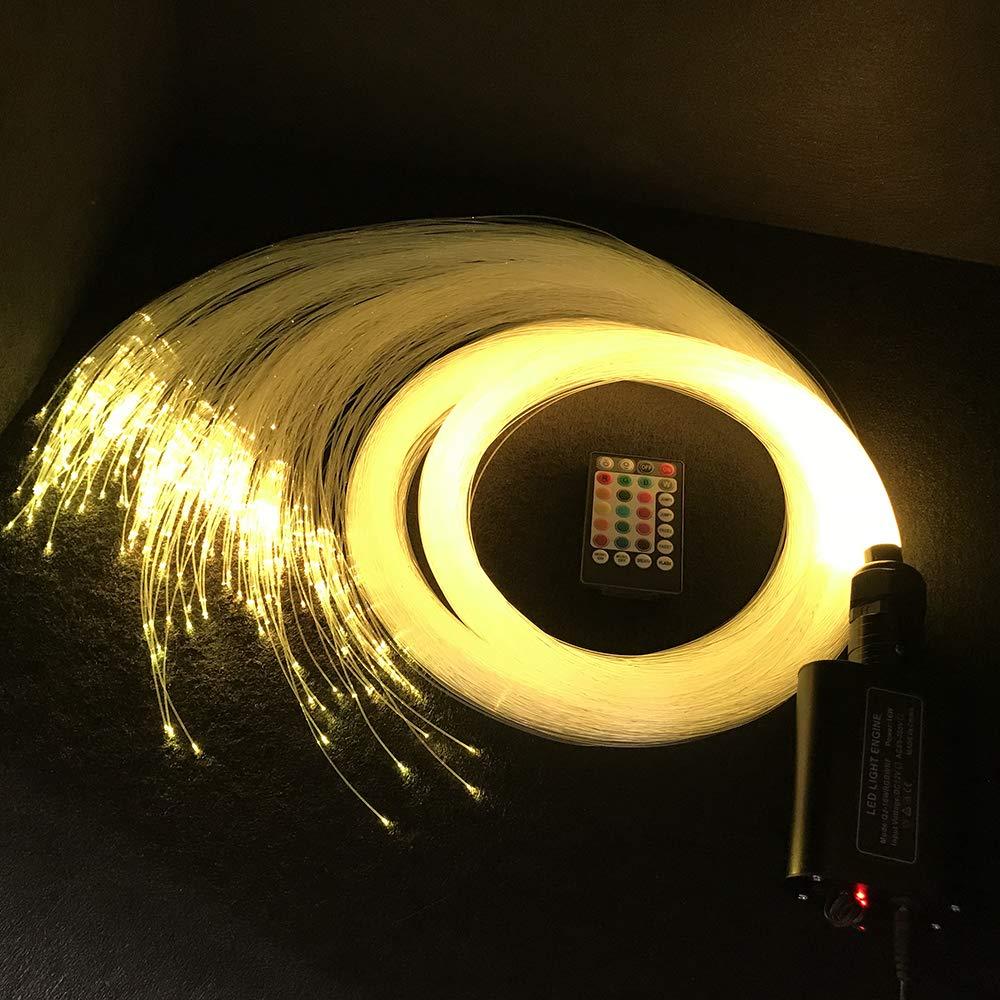 Car use 16W LED Fiber Optic Light Star Ceiling Kit Lights - 220 PCS 0.03in 9.8ft Long (220 PCS0.03in6.5ft Long) Ninth-Mart