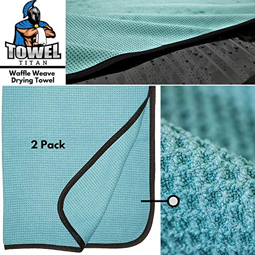 Towel Titan Microfiber Complete Bundle Kit - Microfiber Detailing Towels for Your Car, Boat, RV, Home, and More - Drying Towels, Utility Towels, Wax & Polishing Towels (Professional Bundle) by Towel Titan (Image #1)