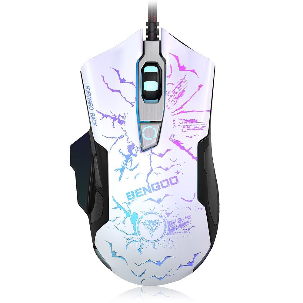 Mouse Gamer : BENGOO 3200 DPI Ergonomico con 7 Color