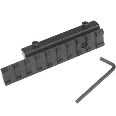 Rail de Picatinny Adaptateur de montage Tactique Base 11mm à 20mm Adaptateur à Bases de Queue Picatinny Rails 100mm Mount Converter