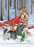 Pipsqueak Productions C996 Holiday Boxed Cards- Alaskan Malamute