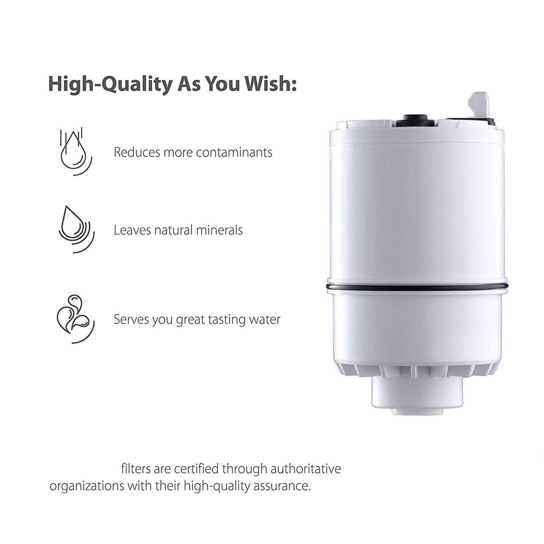 Pack of 2 K-MOZE Faucet Water Filter RF-3375 Replacement Water Filter Refill for PUR Faucet 3375 Water Filter