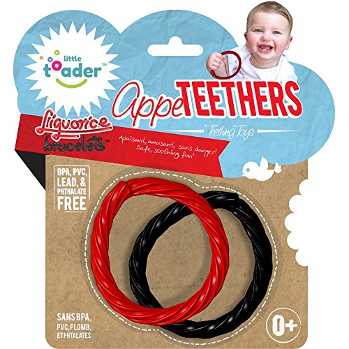 LITTLE TOADER Teething Toys, Liquorice Bracelets Appe-Teethers (Teething Fun Rattle)