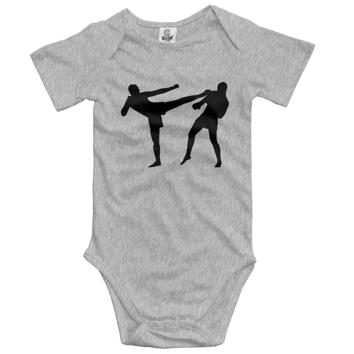 CDHL99 Kick Boxing Baby Boys Or Girls Short Sleeve Layette Bodysuit 0-24 Months