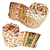Set of 2 Radha Krishna Shop Jaipuri Cotton Single Bed Quilt 205