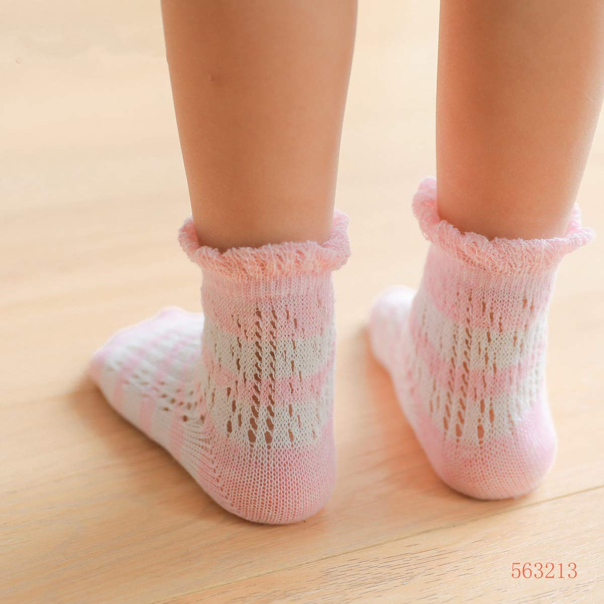 SKOLA Non Skid Anti Slip Crew Ankle Socks With Grips For Baby Toddlers Boys Girls 3 or 6 Pairs Unisex Kids Infants Cotton