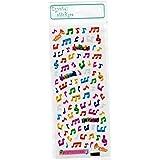 Autocollants en cristal - Musique thème petites notes de musique colorées