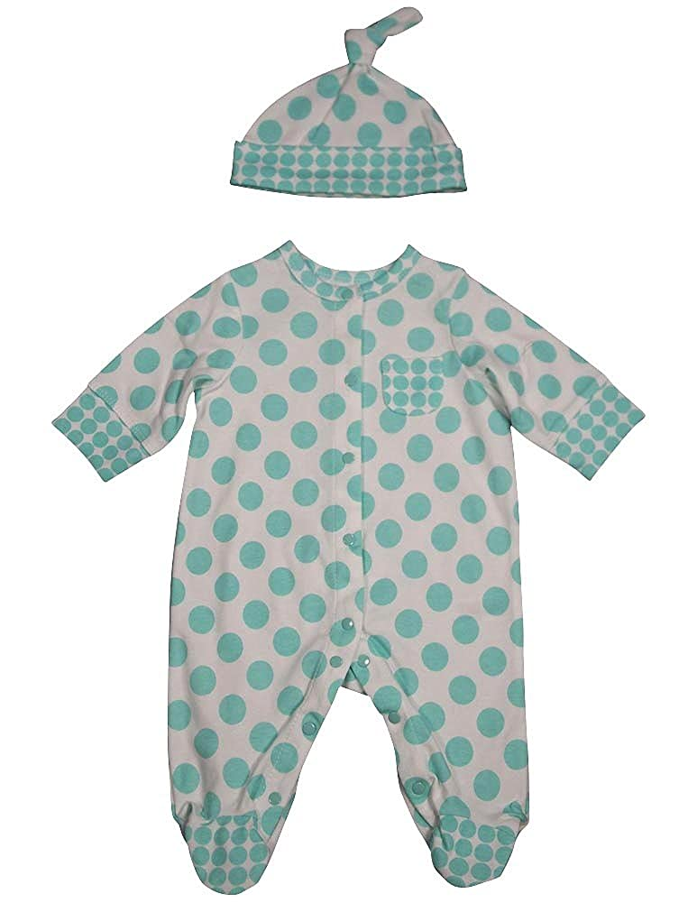 Offspring Baby Girls Long Sleeve Coverall and Hat