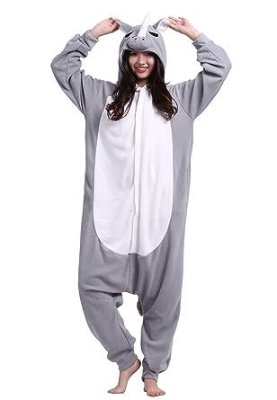 293362cc48ec Männer Damen Pyjama Kostüm Overall Plüschoverall Tier Verkleidung ...