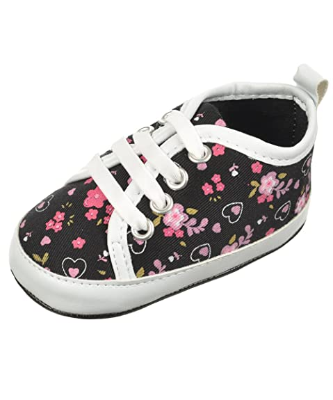 """Rugged Bear bebé niña """"Flores paso"""" zapatillas botines. Pasa el ratón por encima de ..."""
