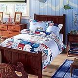 CASA Children 100% cotton series Cushion cover & Sheet & Pillowcases & duvet cover,3 Pieces,Twin