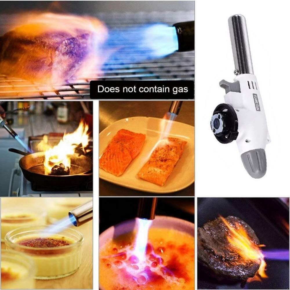 Chalumeau R/églable de Cuisine Soudure Lifemaison Torche Professionnel Culinaire Torche au Butane pour BBQ Camping 1 Pcs