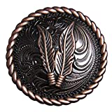 HILASON Set of 8 1.5 in Copper Feather Rope Edge