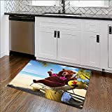 Home Décor Rug Wild Hot Se x y Bear with Bikini Top on