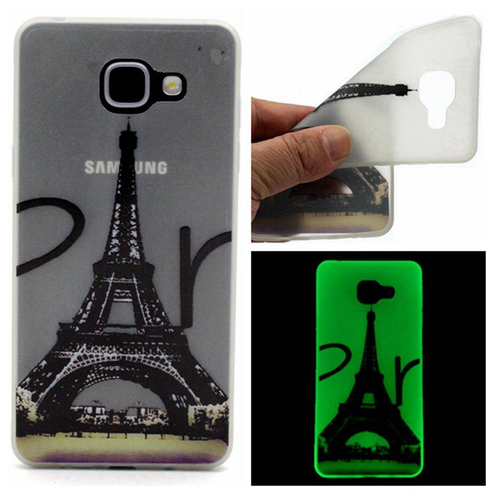 HUDDU H/ülle Compatible for Samsung Galaxy A5 2016 A510 Silikon Case Ultra Slim Schutzh/ülle Nacht-Leuchtende Handyh/ülle Durchsichtig Cover Leuchten In Der Nacht Tasche Bumper Blau L/öwenzahn
