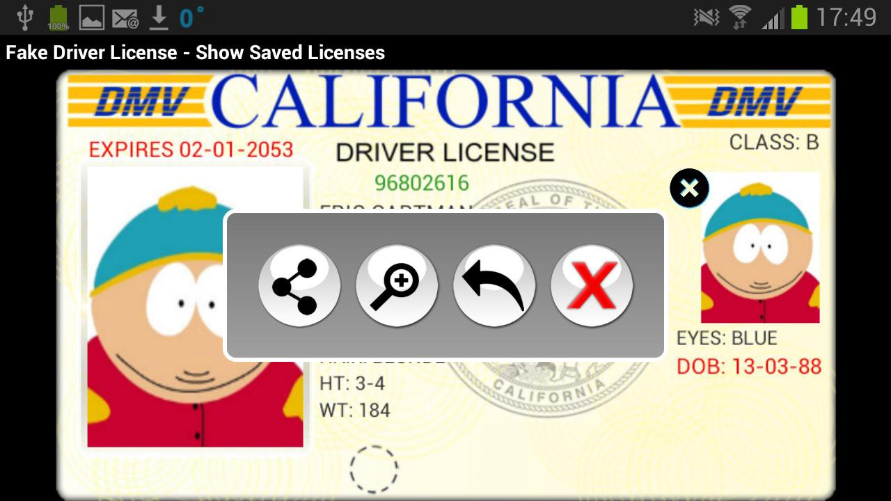 Driver License Fake Appstore Generator Android Amazon com For