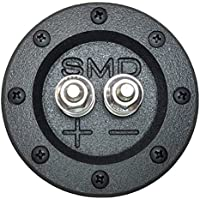 SMD 1 Channel Heavy Duty Speaker Terminal (Stainless) (3/4 PVC Black) (Round)