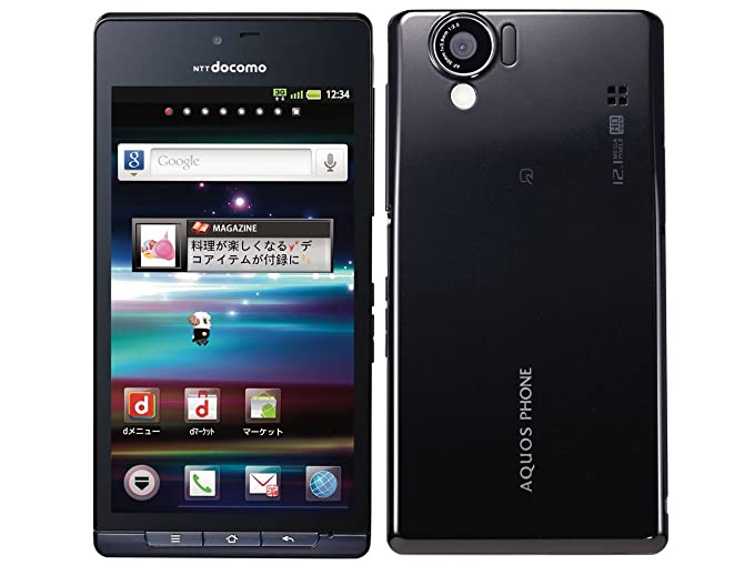 Amazon com: Sharp Sh-01d Aquos Black Unlocked (International) (Jpn