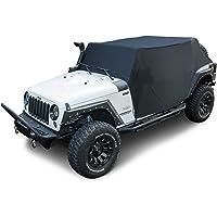 غطاء سيارة E-cowlboy Cab 82215370 لسيارة Jeep Wrangler JK JKU JL JLU 2007~2020 4 أبواب أسود أكسفورد مظلة غطاء حماية صلب…