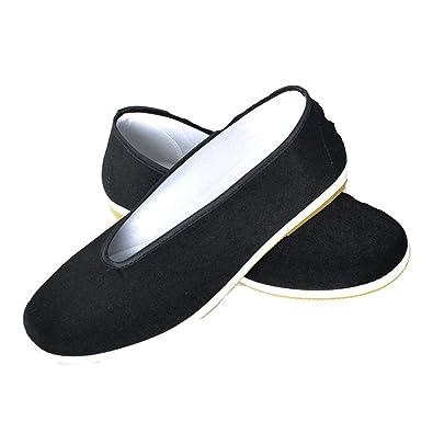 767be2c869115 Classique Plat Chaussures - Chaussures de Kung Fu Chinois Traditionnel Art  Martiaux Vieux Pékin Décontractée Chaussures Noir Chaussures de Toile   Amazon.fr  ...