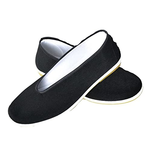 Zapatos de Kung Fu para Hombres, Color Sólido Zapatos de Artes Marciales Zapatos de Tai Chi Zapatos Suela de Goma Negro: Amazon.es: Zapatos y complementos