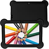 YUNTAB 7 inch Quad Core Tablet PC (512MB RAM, 8GB HDD, HD display 1024*600, Google Android 4.4, WIFI, USB, ) Allwinner A33 CPU with Dual Camera Google Play Pre-loaded, External 3G,3D-Game Kids Tablet with Comfortable touch and Chic Design Silicone Case (Pink+Pink)