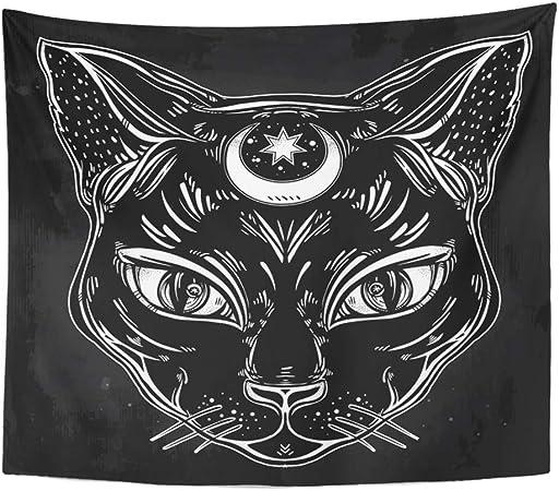 Emvency Tapiz con diseño de Mandala, 60 x 80 cm, Color Negro, con ...