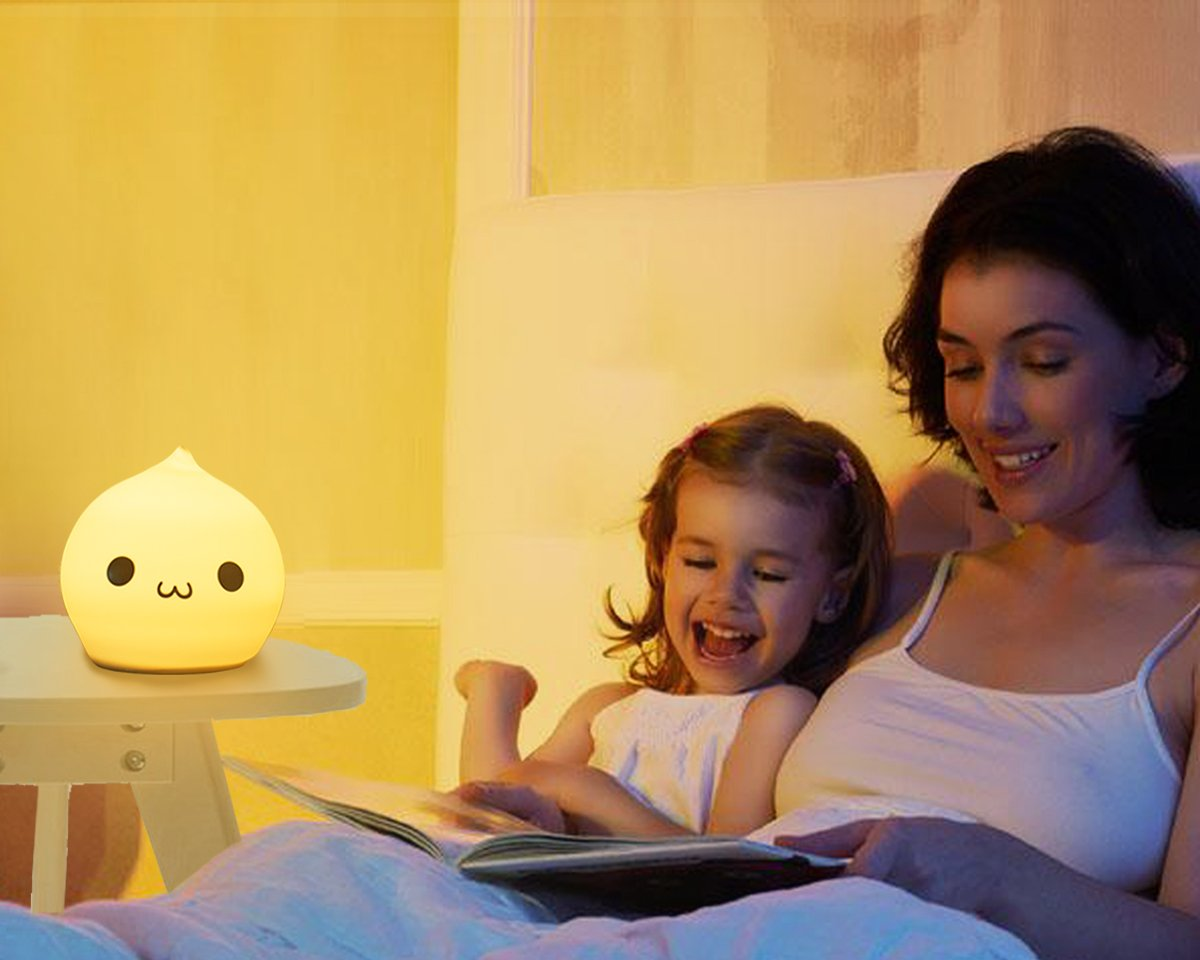 Silicone Children Night Light Cute Droper Sensitive Tap Control Light Multi-Color Soft Baby Kids LED Lamp Silicone USB Rechargeable Breathing Dual Light Modes Nursery Night Lamp by YiaMia (Image #2)