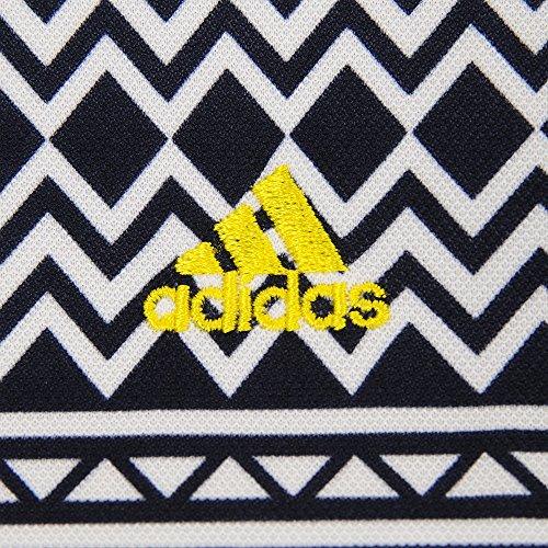 アディダス Adidas 半袖シャツ?ポロシャツ パネルプリント 半袖ポロシャツ レディス ネイビー M