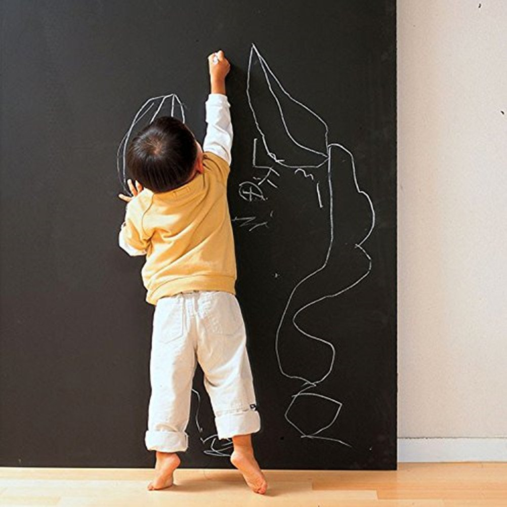 Coavas Multi-Purpose Chalkboard Contact Paper Wall Decals For Home Kitchen Children Room Wallpaper, Office ,Restaurant Coffee Bar Menu Chalkboard 17.7-Inch by 78.7-Inch ¡ Vogue Carpenter