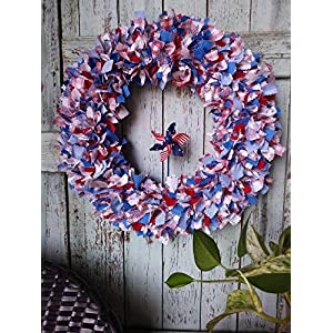 4th of July wreath patriotic wreath pinwheel Independence Day country wreath wall decor gift holiday wreath perfect gift summer wreath for front door material wreath americana wreath front door 88