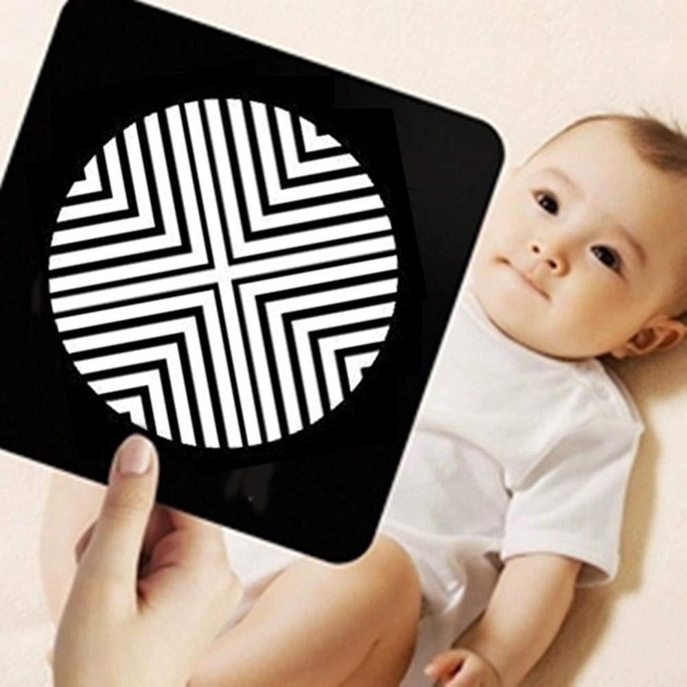 Baby High Contrast Book mit Flash Card p/ädagogisches Spielzeug Dusche Geschenk f/ür Kleinkinder Jungen und M/ädchen