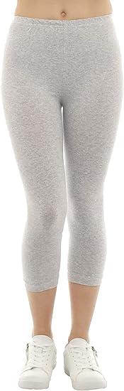 SYS - Mallas pirata para mujer, algodón, color gris claro, talla M ...