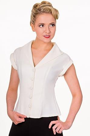 Banned Apparel - Dream Master Camisa - Blanco - S: Amazon.es: Ropa y accesorios