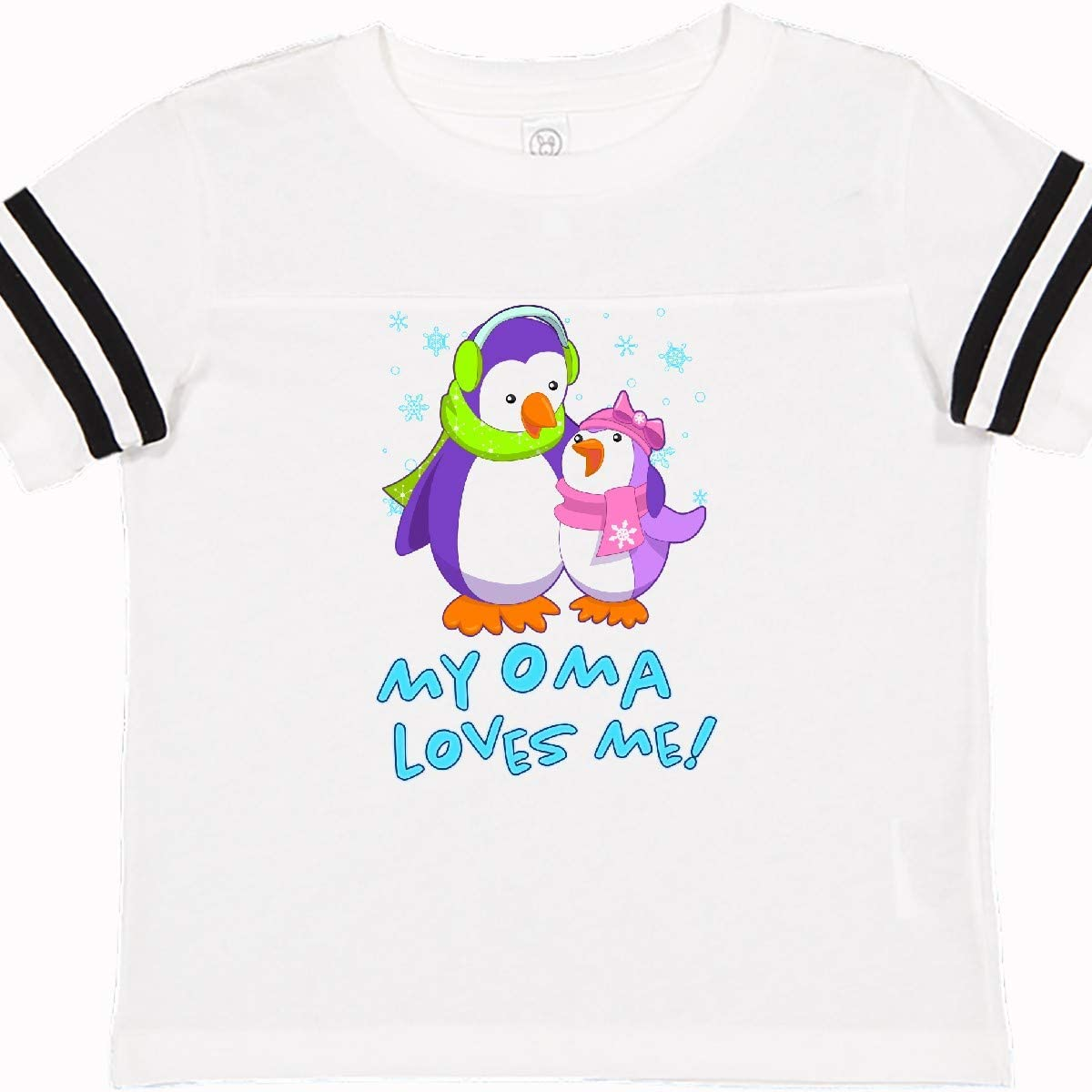 inktastic My Oma Loves Me Cute Penguins Toddler T-Shirt