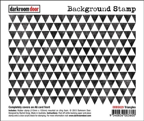 Darkroom Door Triangles Triangles Triangles Rubber Background Stamp with cling foam - DDBS029 B00CV64QNS     | Verschiedene Stile