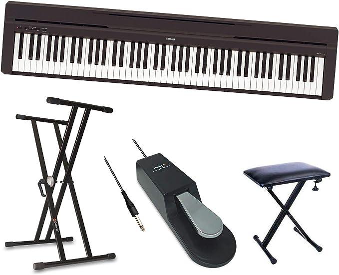 YAMAHA P45 Piano Pack + Soporte + Banqueta + Pedal ...