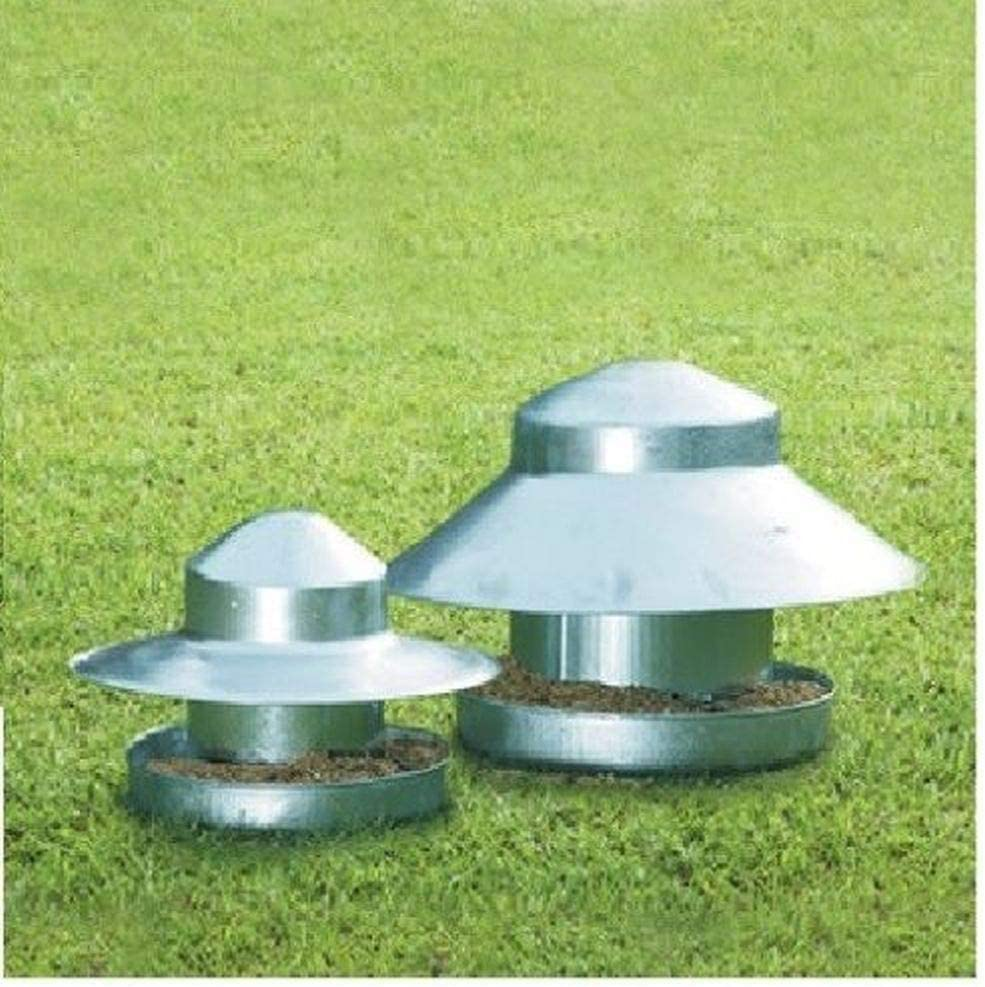 LY Tools ELTEX - Comedero de Suelo galvanizado, Ideal para faisanes, pájaros y Patos